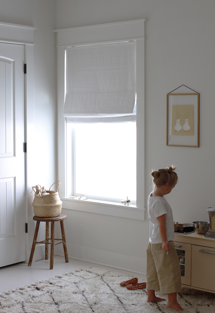 Minimal linen shades from Barn & Willow