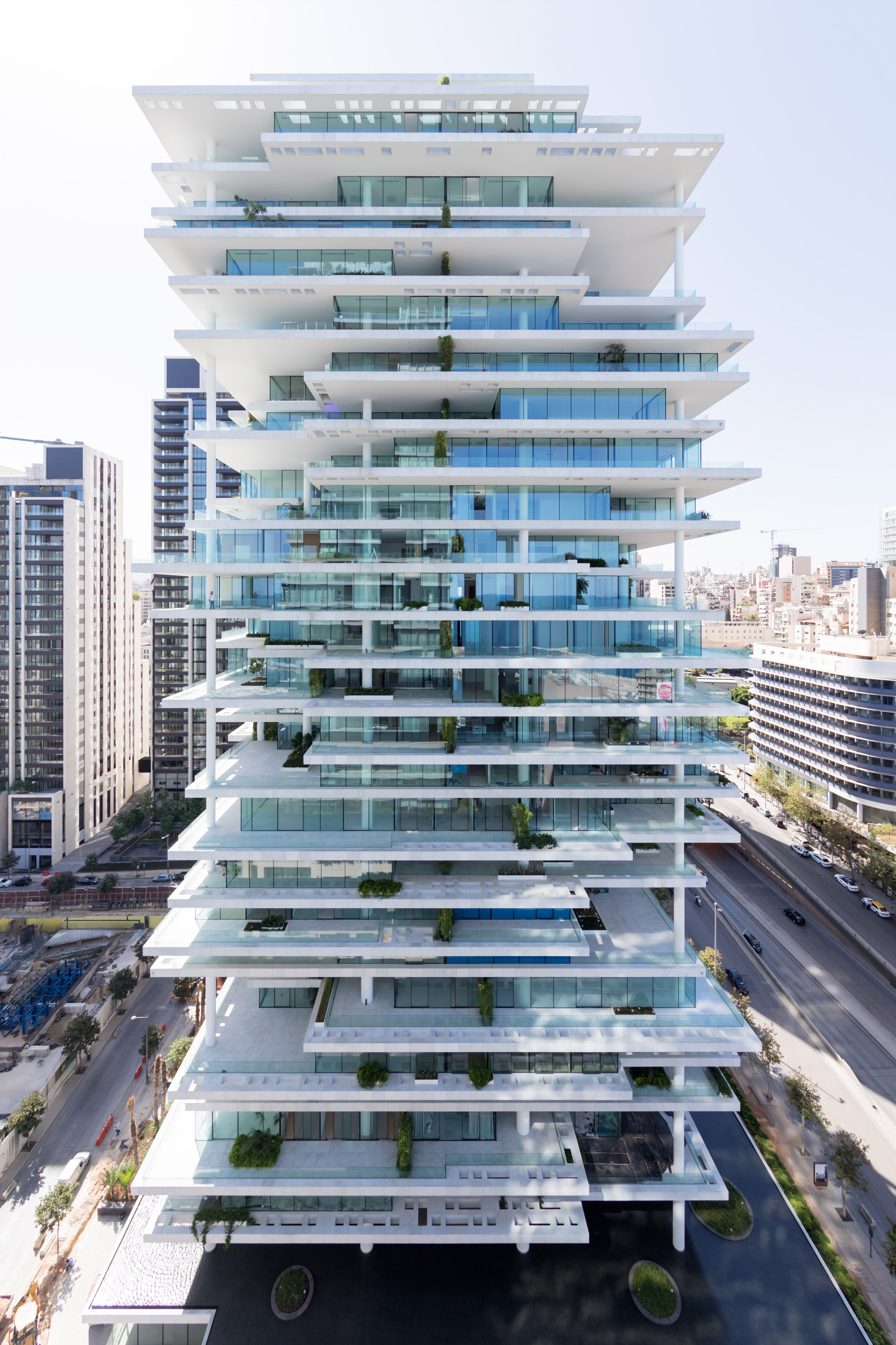 Herzog & de Meuron uses staggered floors to create plant-covered terraces at Beirut tower