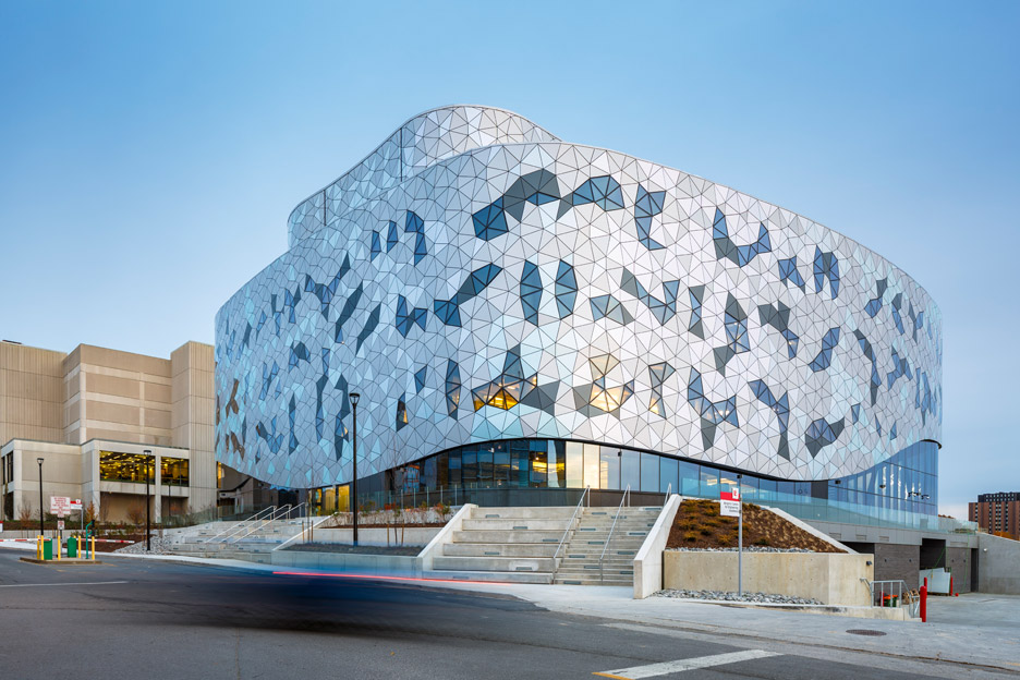 ZAS wraps a Toronto engineering school in a tessellated metal and glass screen