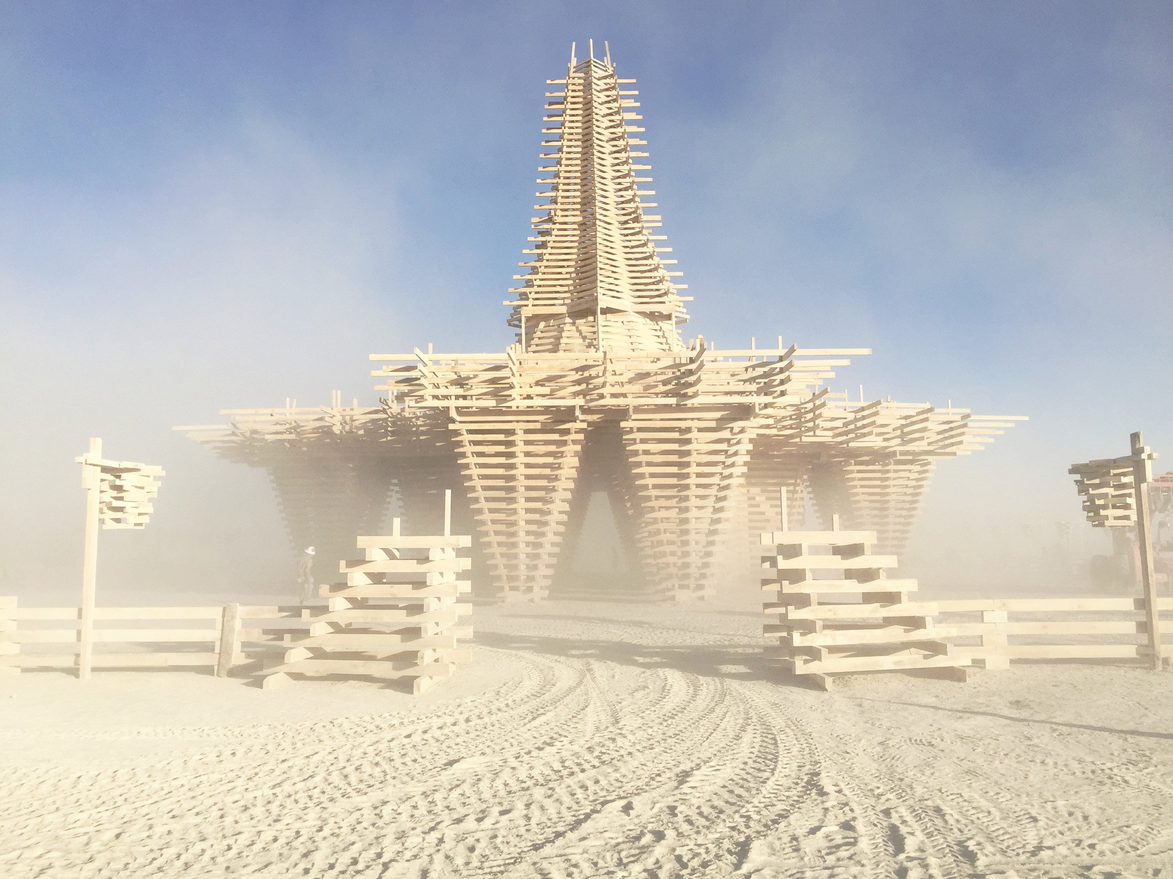 Temple for Burning Man 2017 highlighted the problem of America's dying forests