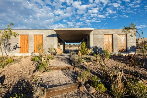 Cherem Arquitectos builds rammed-earth house in Mexican highlands