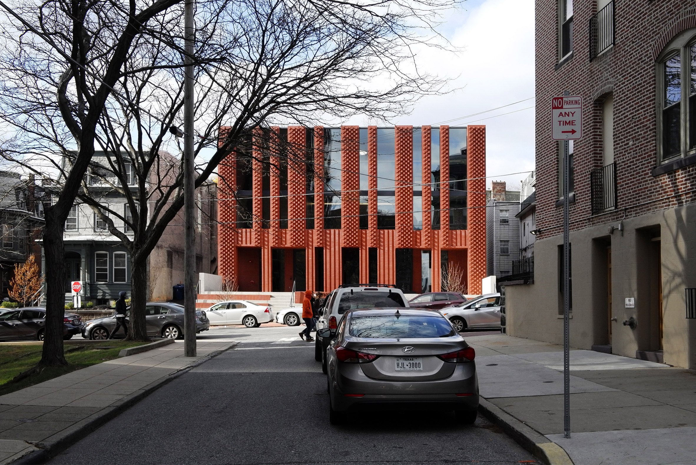 """Brickwork facade modelled on """"abstract menorah"""" fronts Jewish community centre by Natoma Architects"""