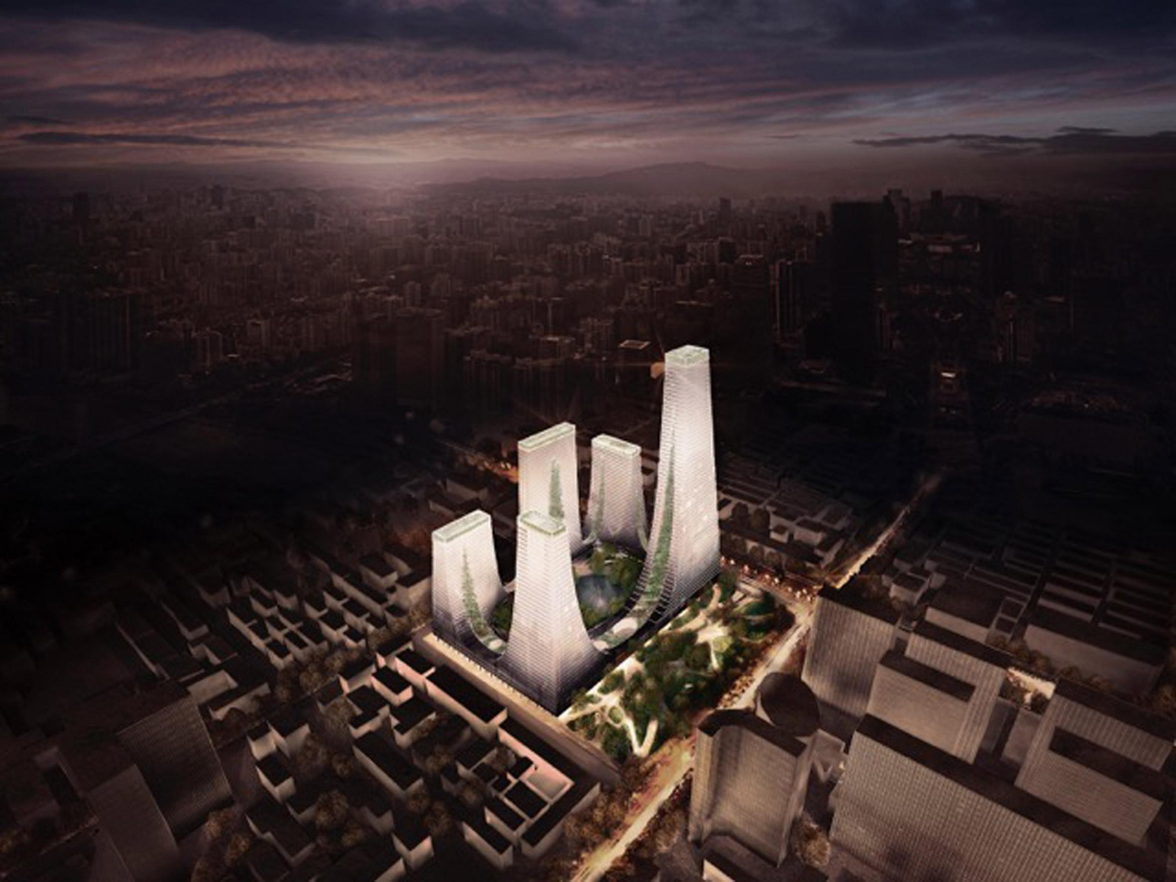 Tonkin Liu reveals tapering tower complex for Zhengzhou