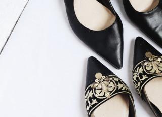 DIY embellished slippers