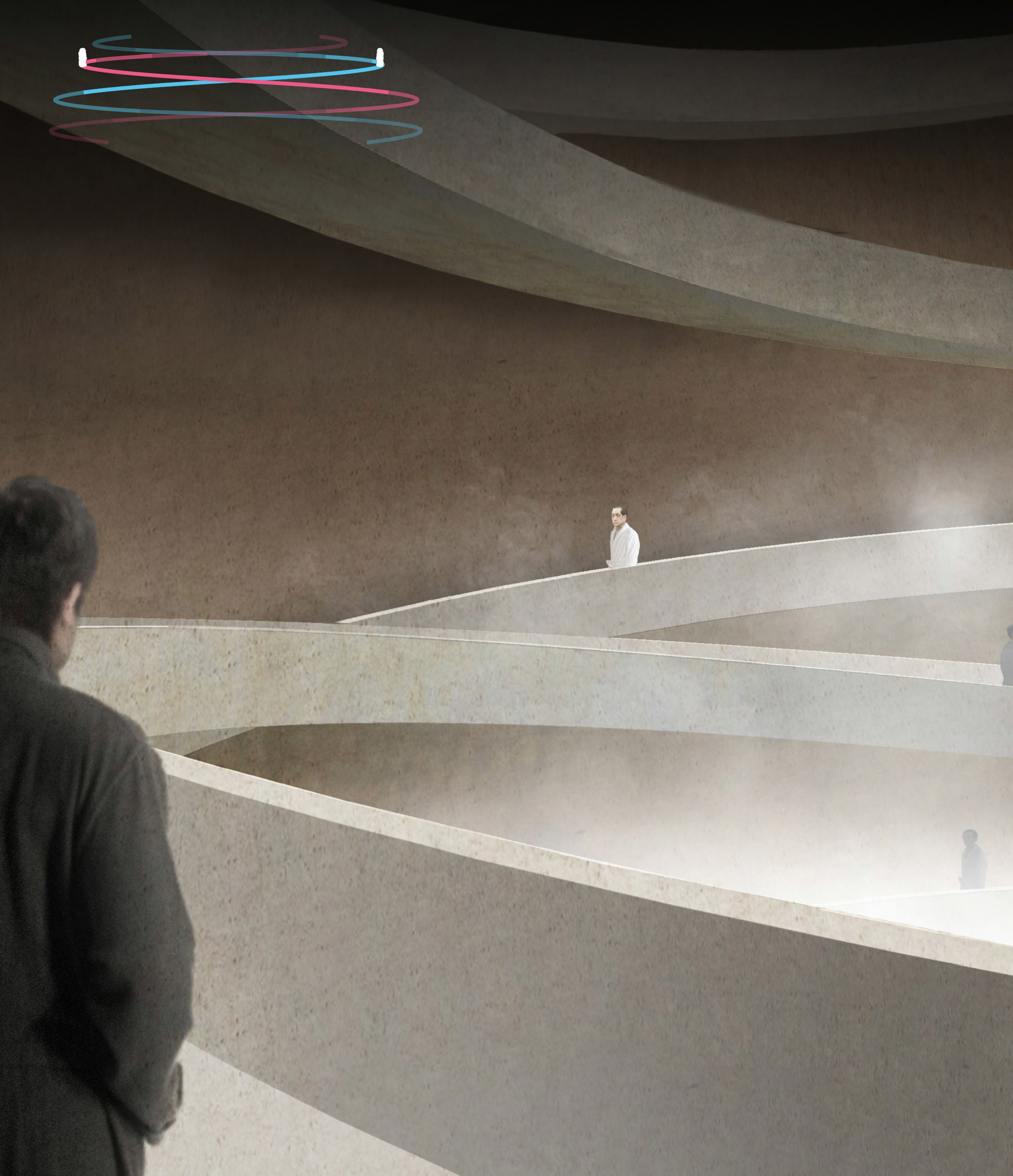 Studio MRDO and Studio LaM win Korean bathhouse contest with underground dome