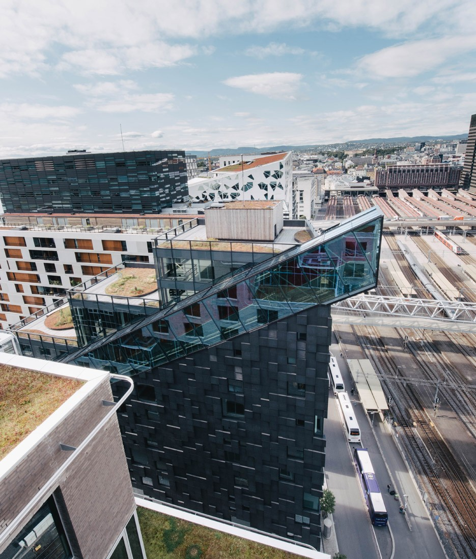 Dark Arkitekter adds staircase-inspired tower to Oslo's fast-developing waterfront