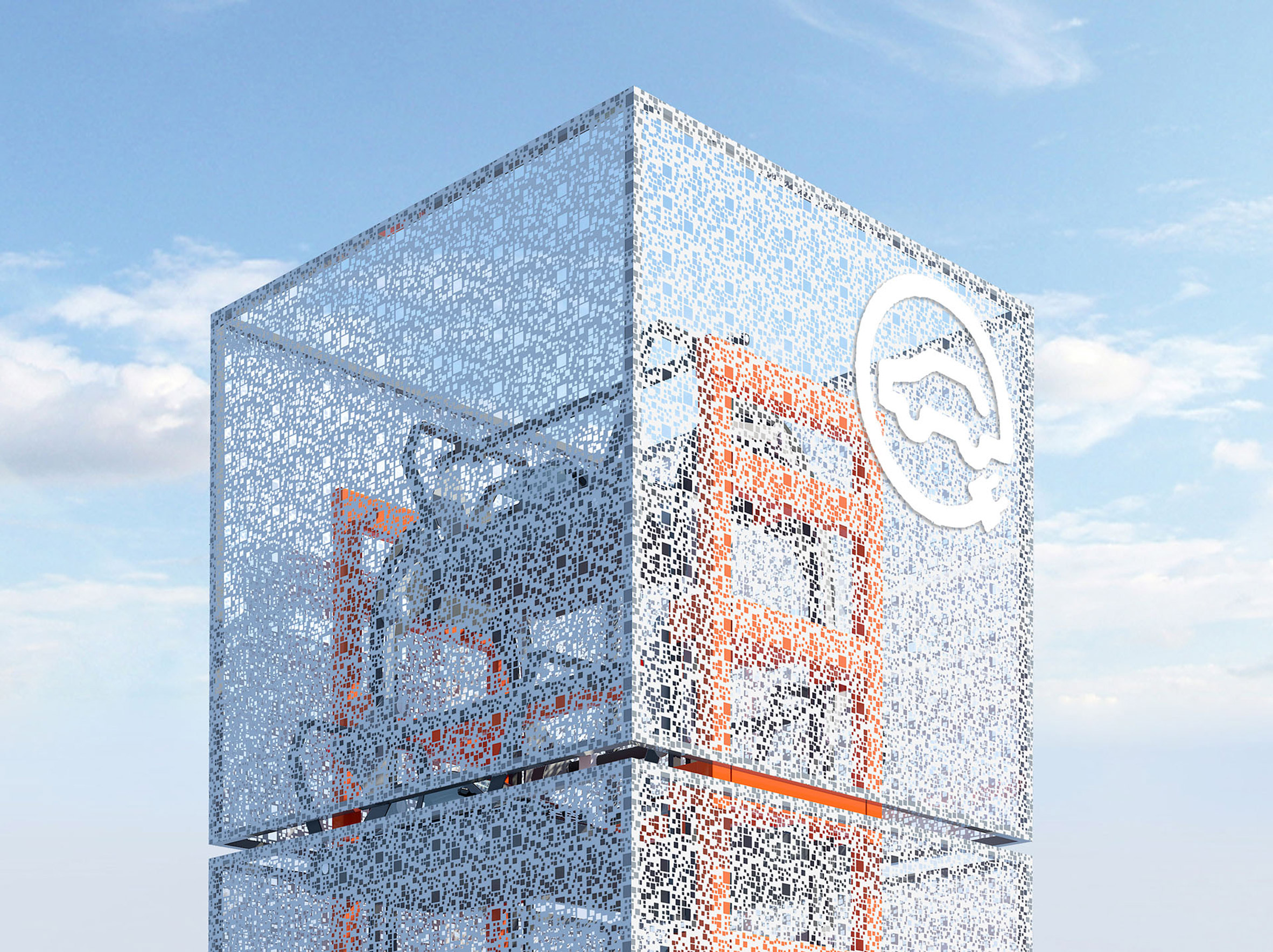 """Ennead Lab proposes electric car charging tower as """"the future of roadside architecture"""""""