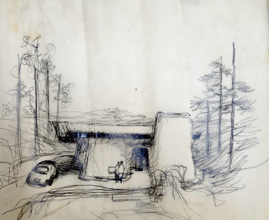 Frank Gehry's early drawings and sketches acquired by LA's Getty Research Institute
