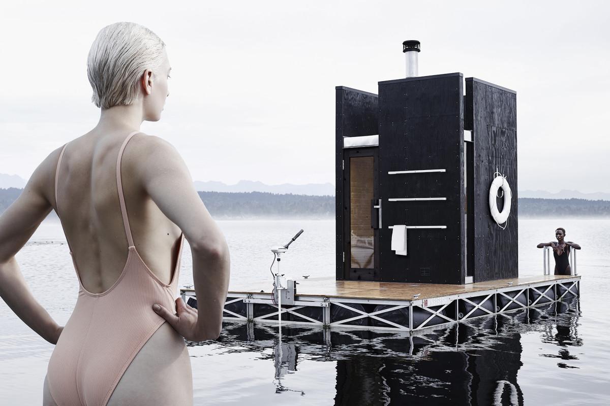 A Motor-Powered Floating Sauna