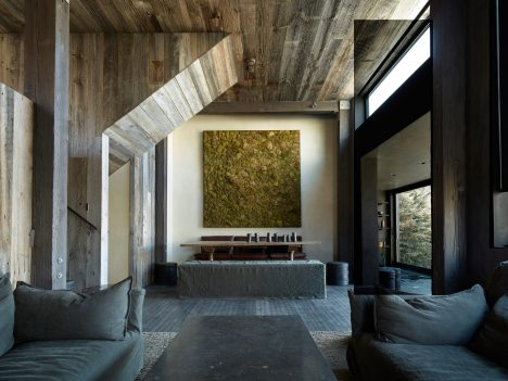 Oppenheim Architecture celebrates imperfections of La Muna chalet in Aspen during renovation
