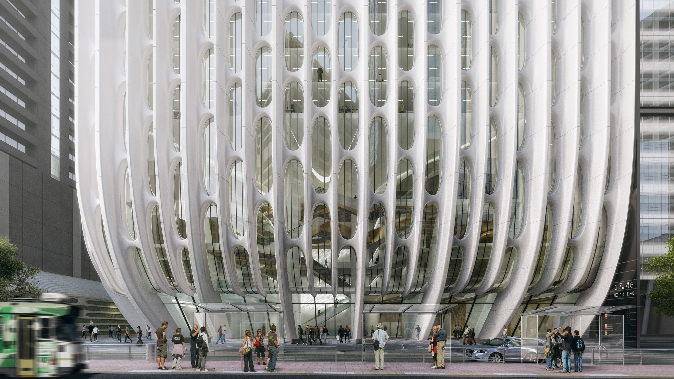 """Zaha Hadid Architects unveils new visuals for """"stacked vases"""" hotel tower in Melbourne"""