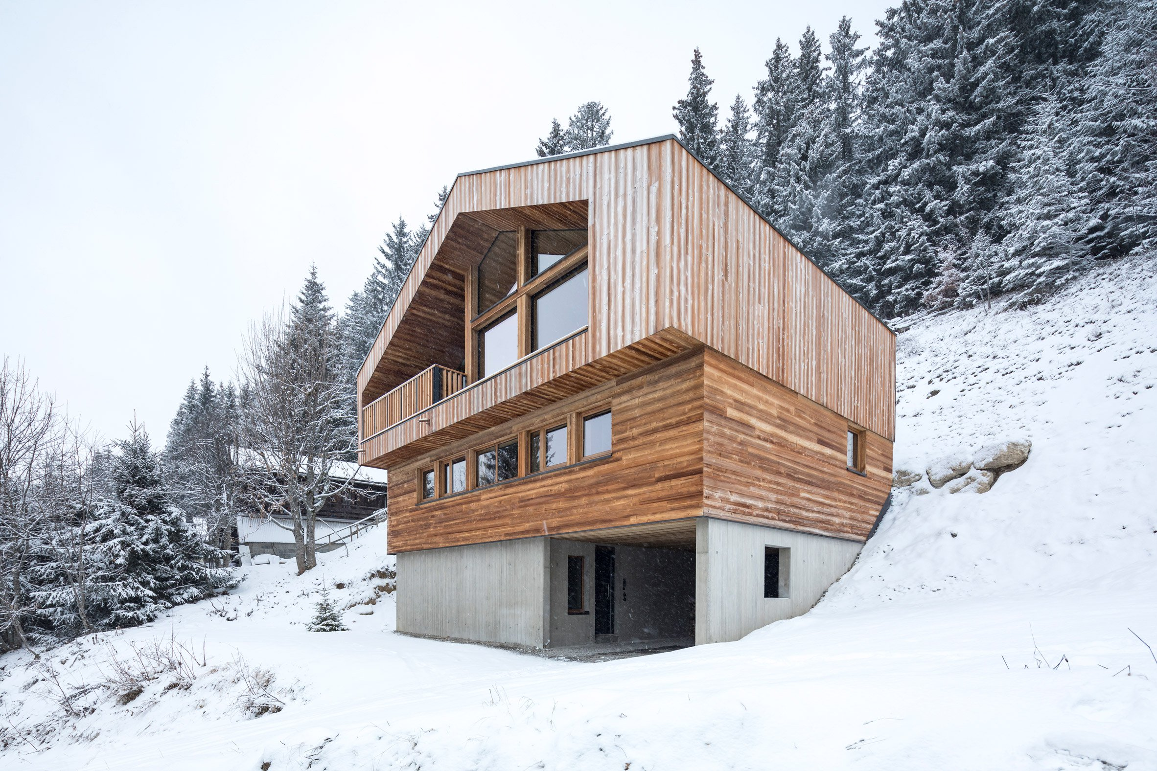 Studio Razavi reinterprets traditional chalet architecture with Mountain House in the Alps