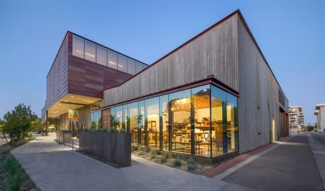 Museum of the West by Studio Ma features walls made of textured concrete