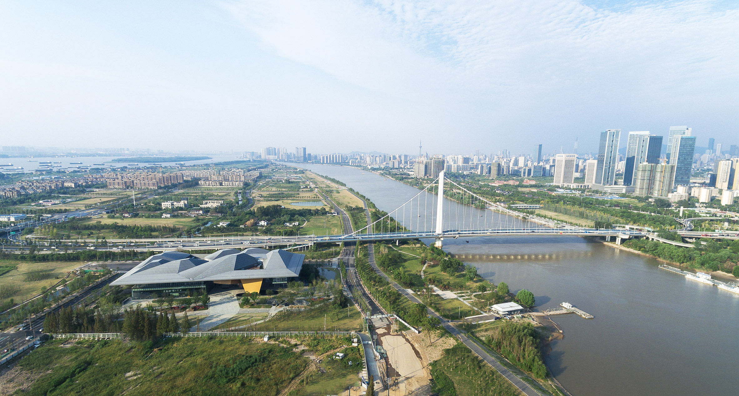 Mountain landscapes inform peaked roof of NBBJ's Nanjing exhibition centre