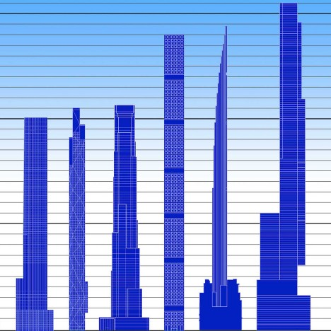 """Skyscraper Museum chronicles explosion of """"super-slender"""" towers in New York"""