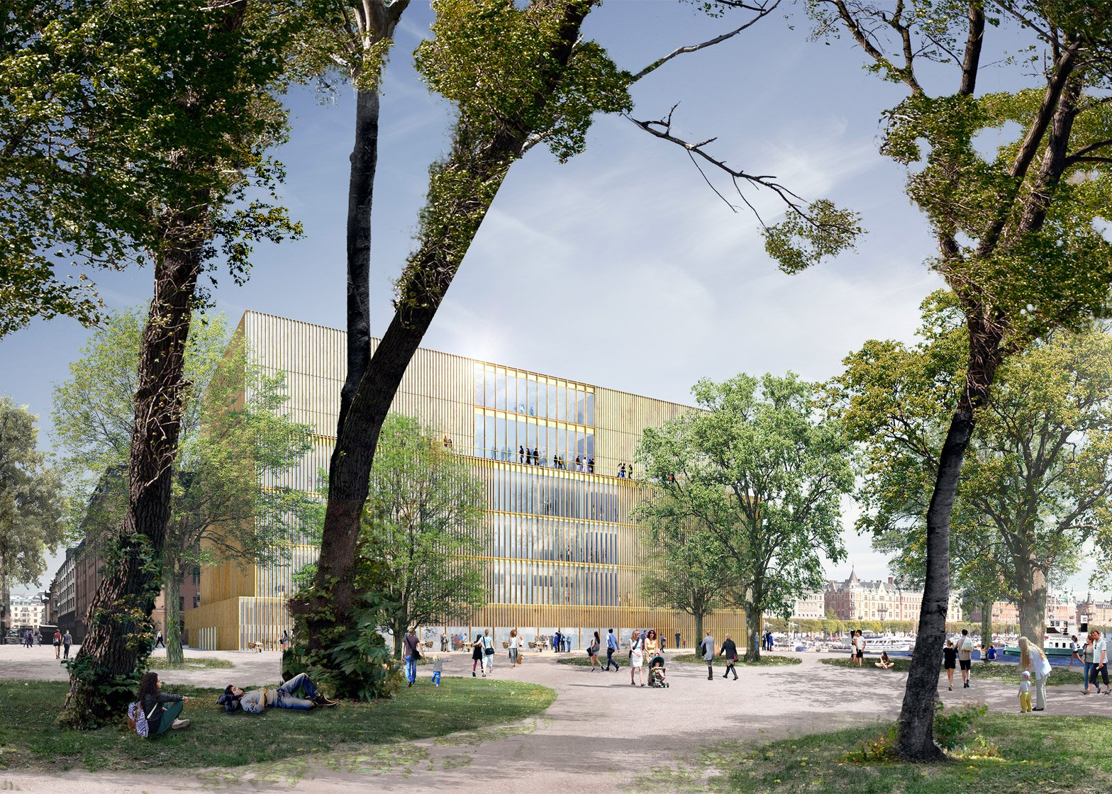 Foster + Partners reveals quayside cultural complex for Stockholm's old town