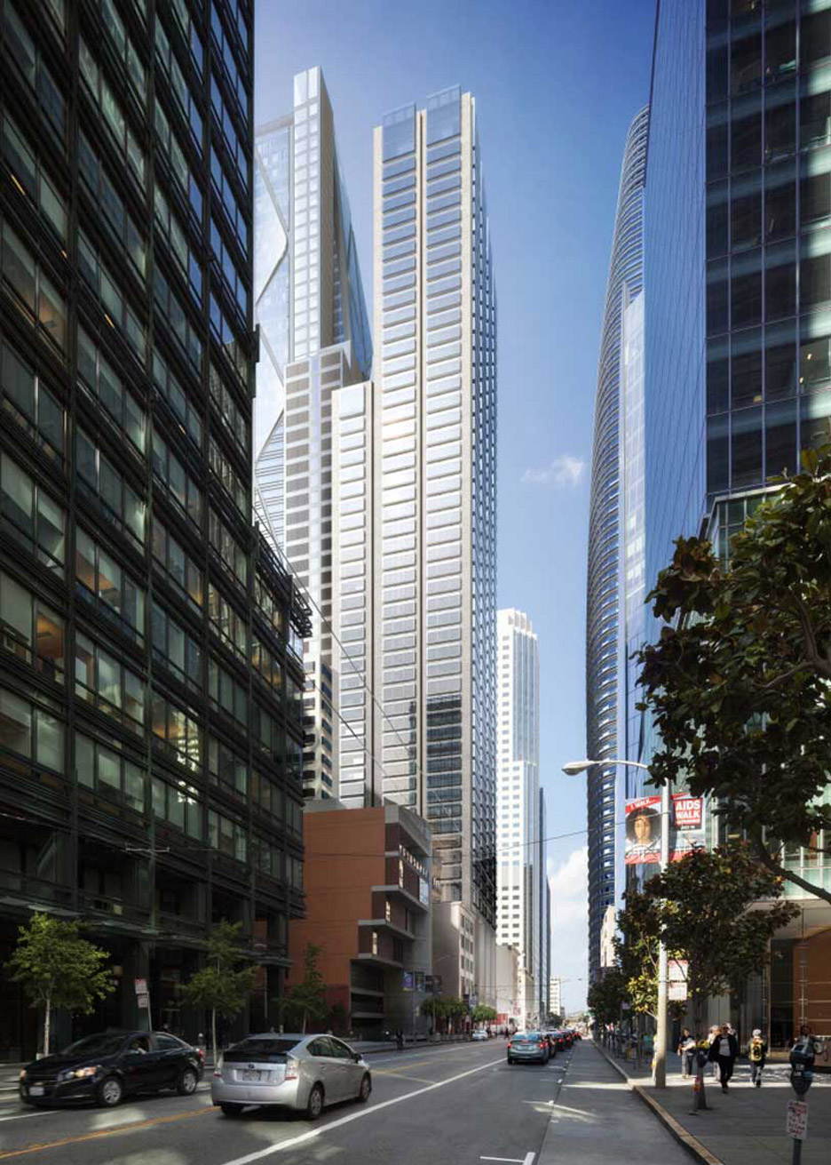 Foster + Partners gets go ahead for crystalline skyscrapers in San Francisco