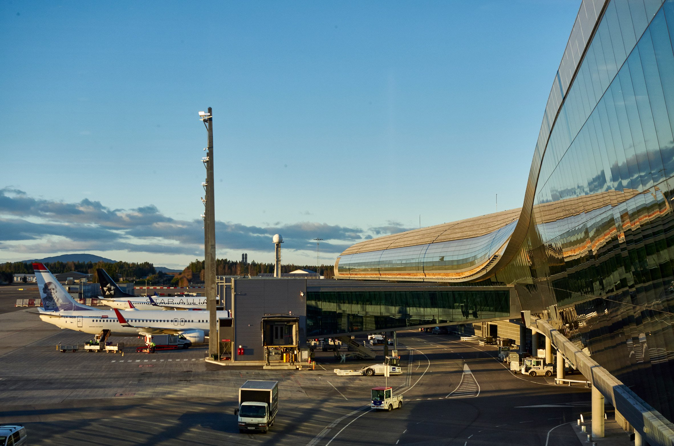 Nordic doubles the size of Oslo Airport with curved extension