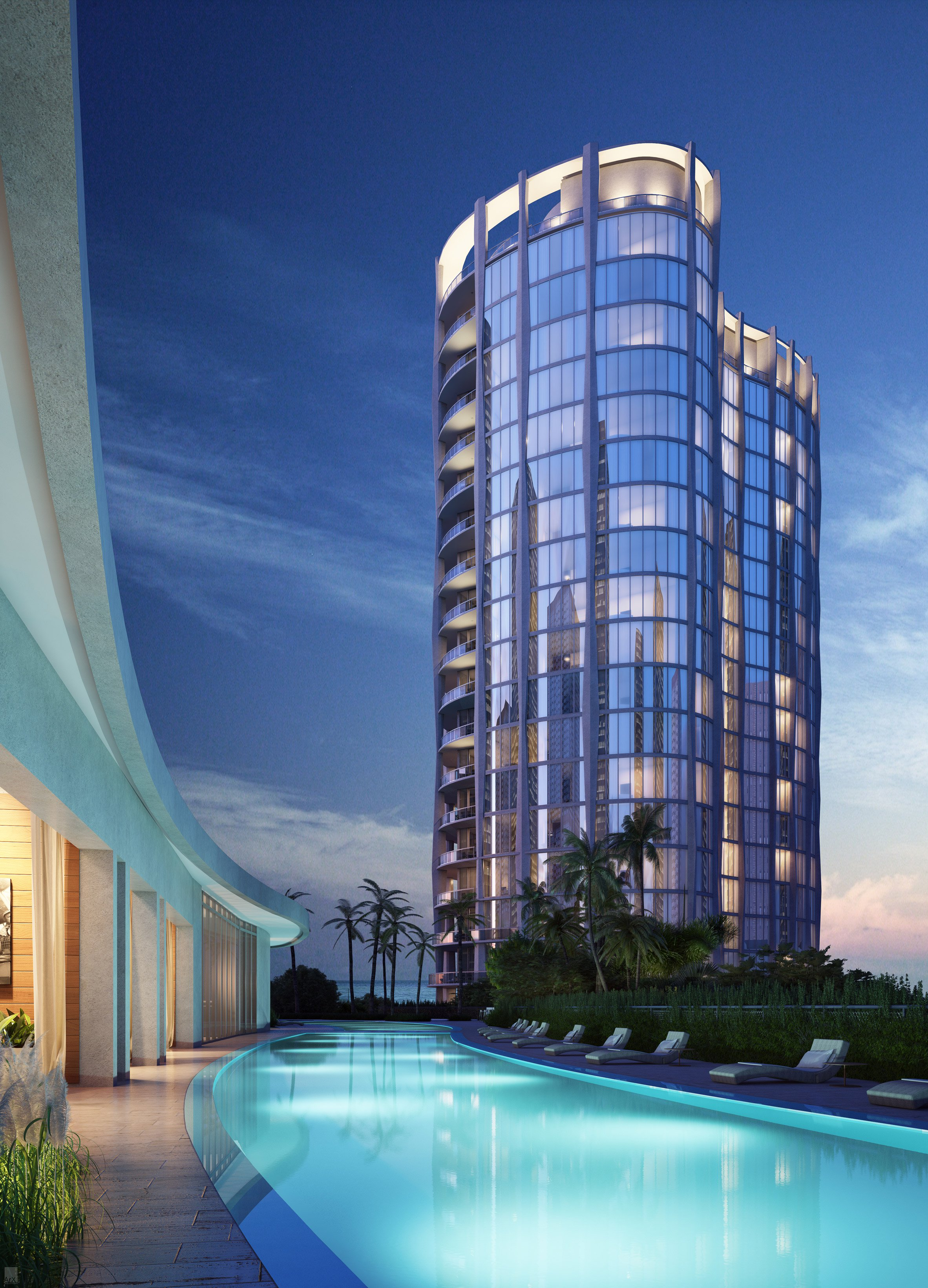 OMA's Park Grove towers in Miami shown in new renderings