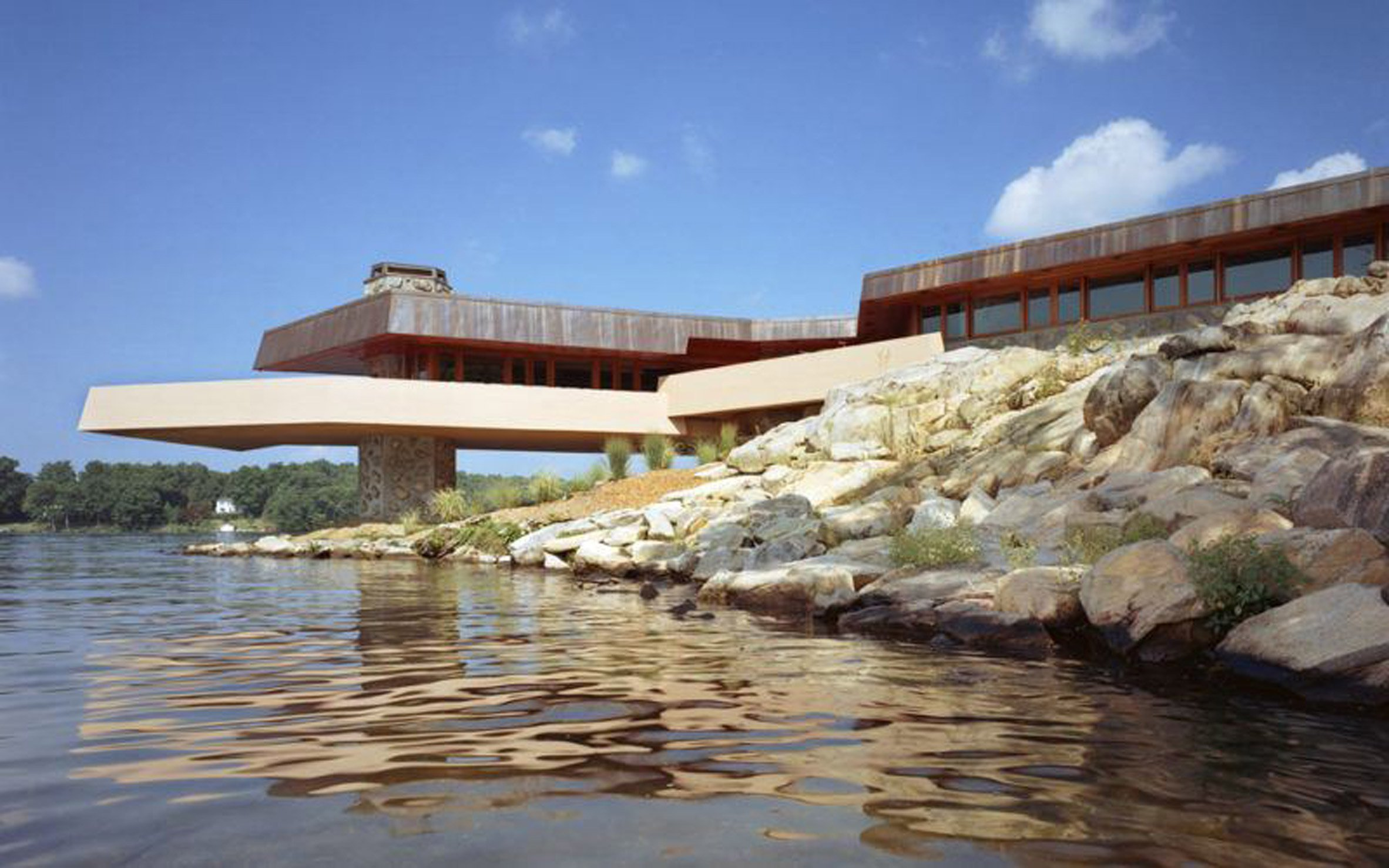 Frank Lloyd Wright-designed private island asks $14.9 million