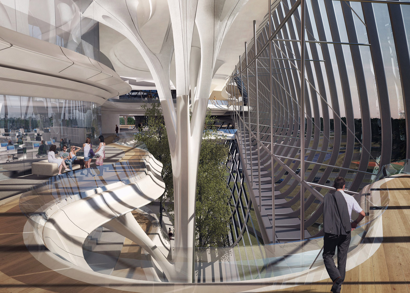 """Zaha Hadid Architects wins contest for new addition to """"Russia's Silicon Valley"""""""