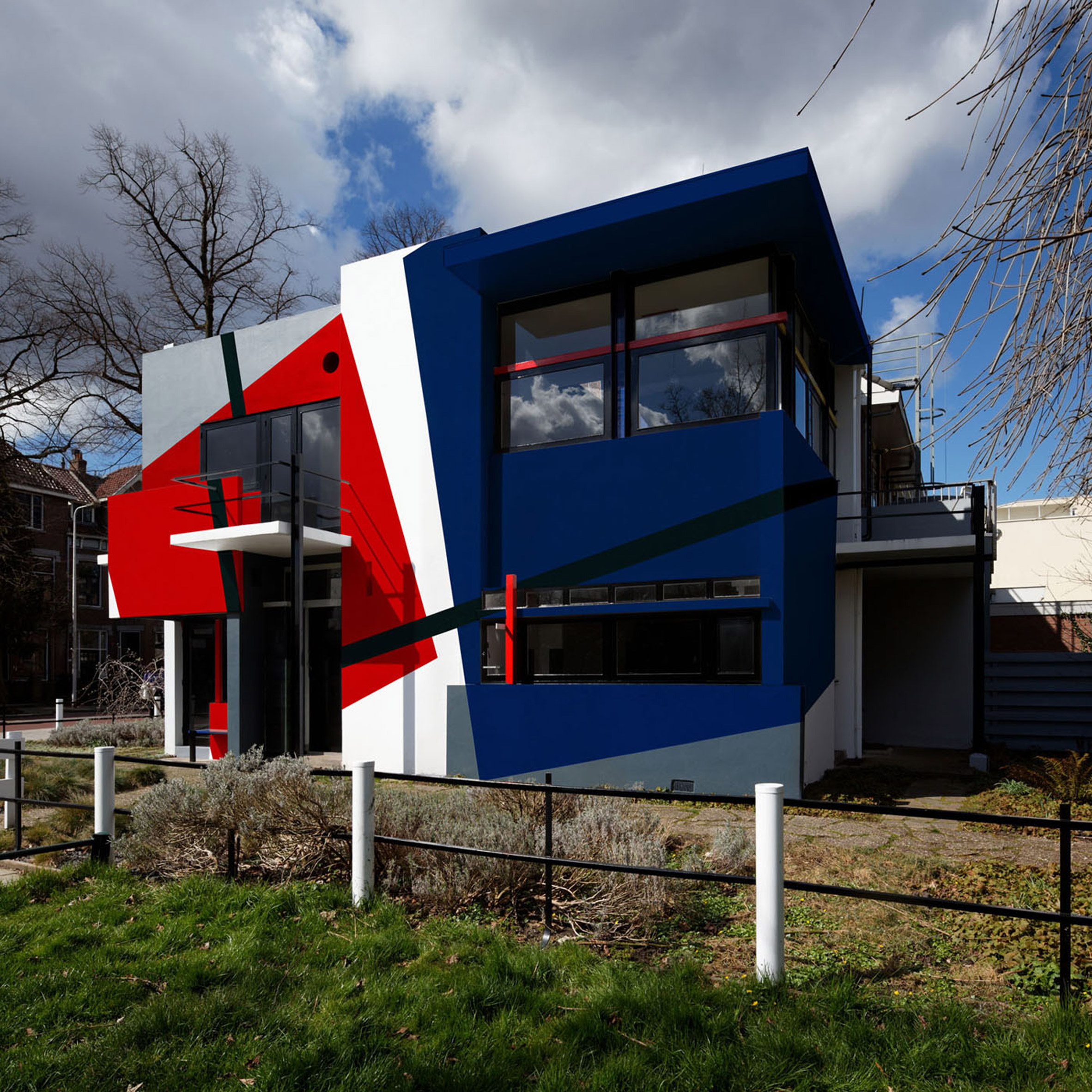 Xavier Delory imagines Gerrit Rietveld's Schröder House covered in primary-coloured paintwork