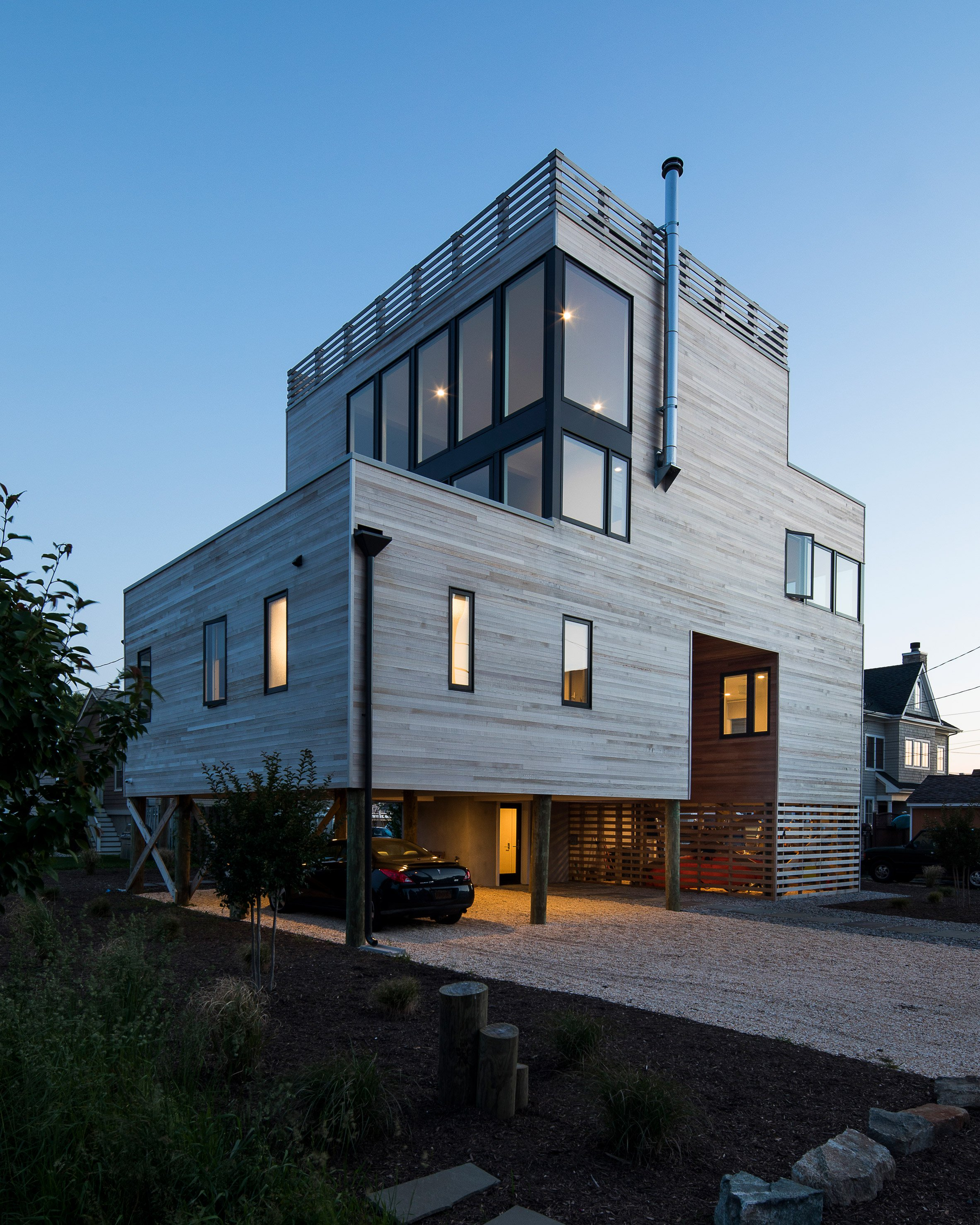 Sea Bright House by Jeff Jordan Architects overlooks the Jersey Shore