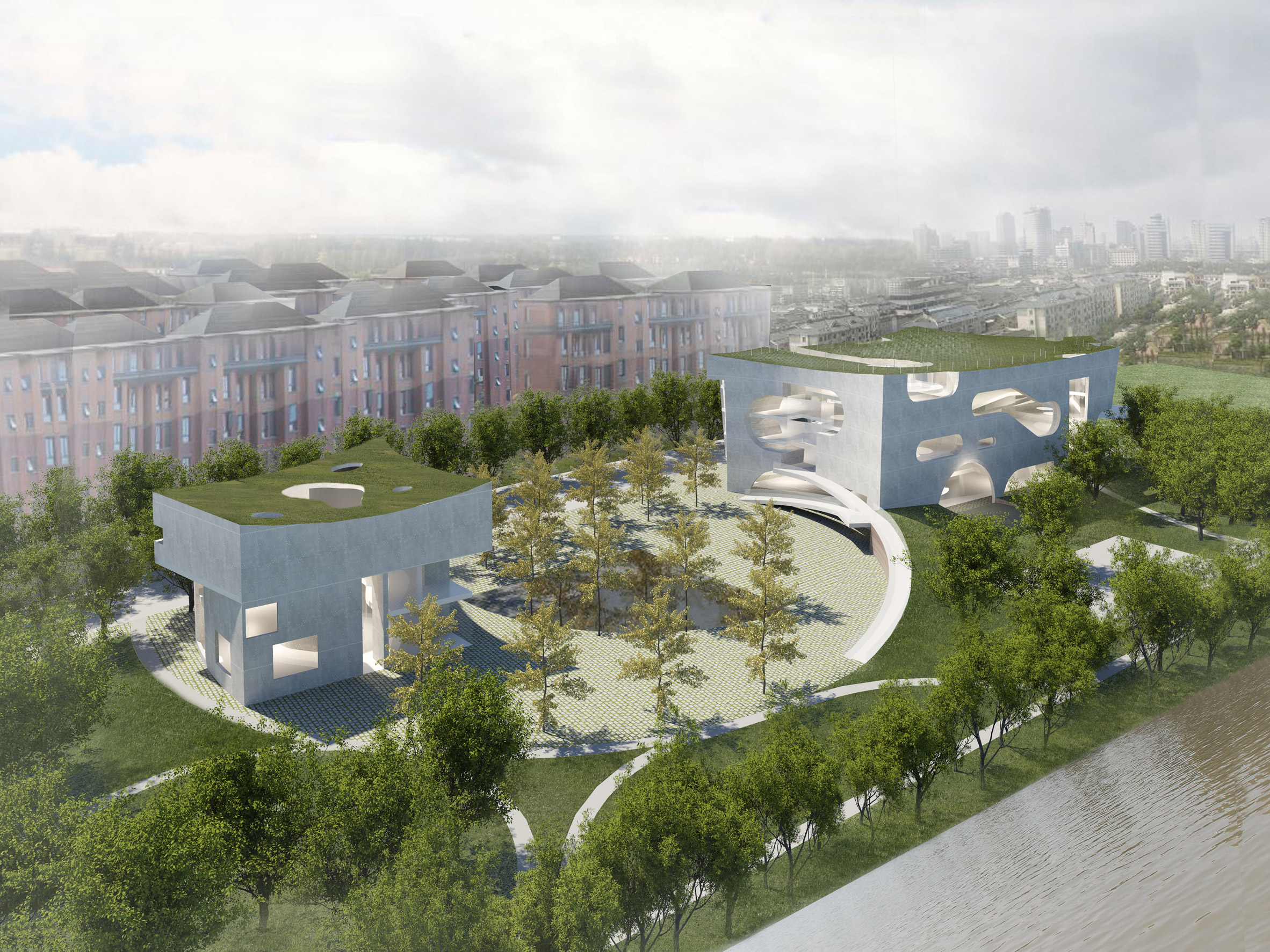 Steven Holl unveils Shanghai cultural complex to be built from white concrete