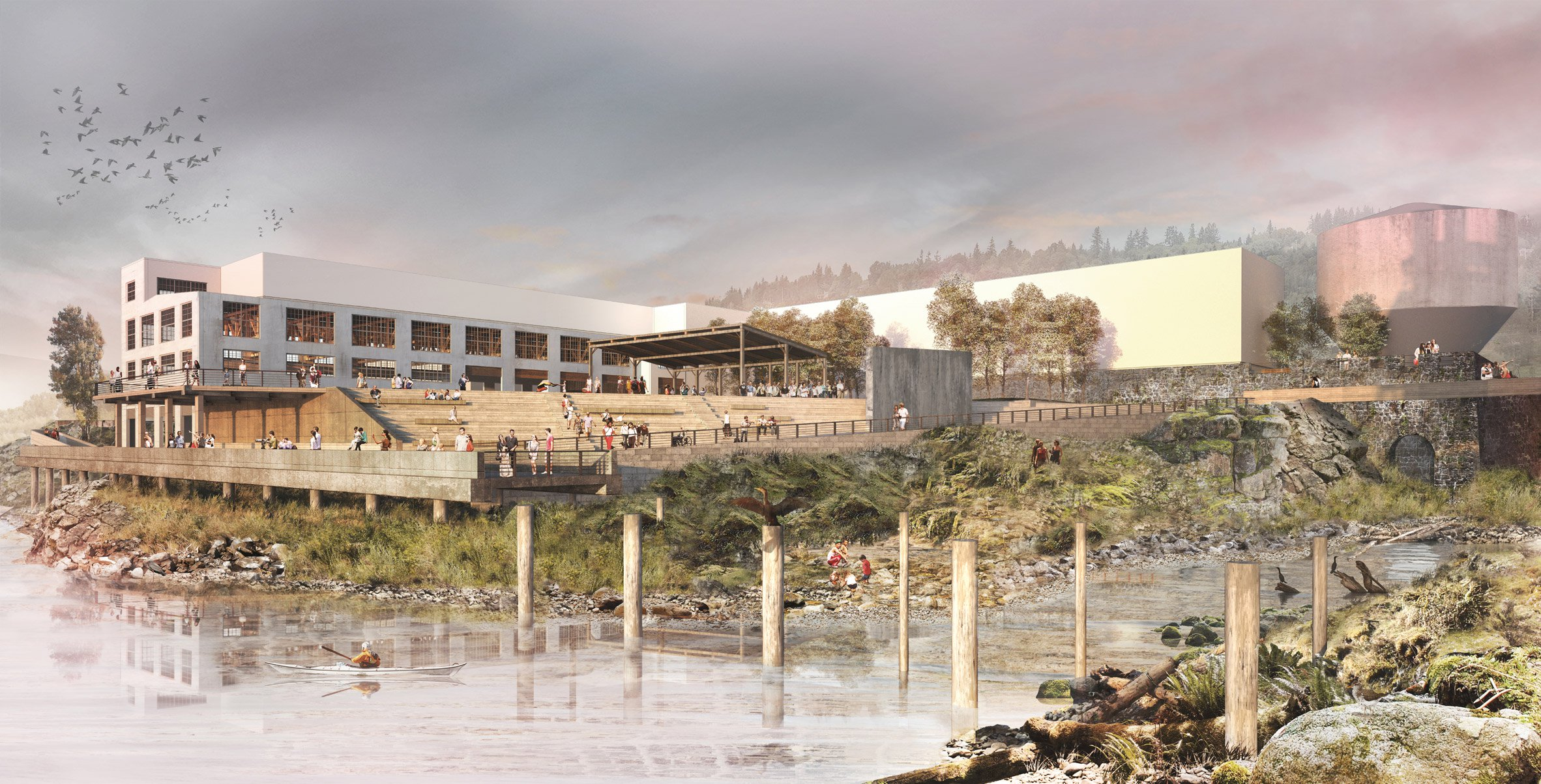 Snøhetta set to overhaul former paper mill to offer views of Oregon waterfall