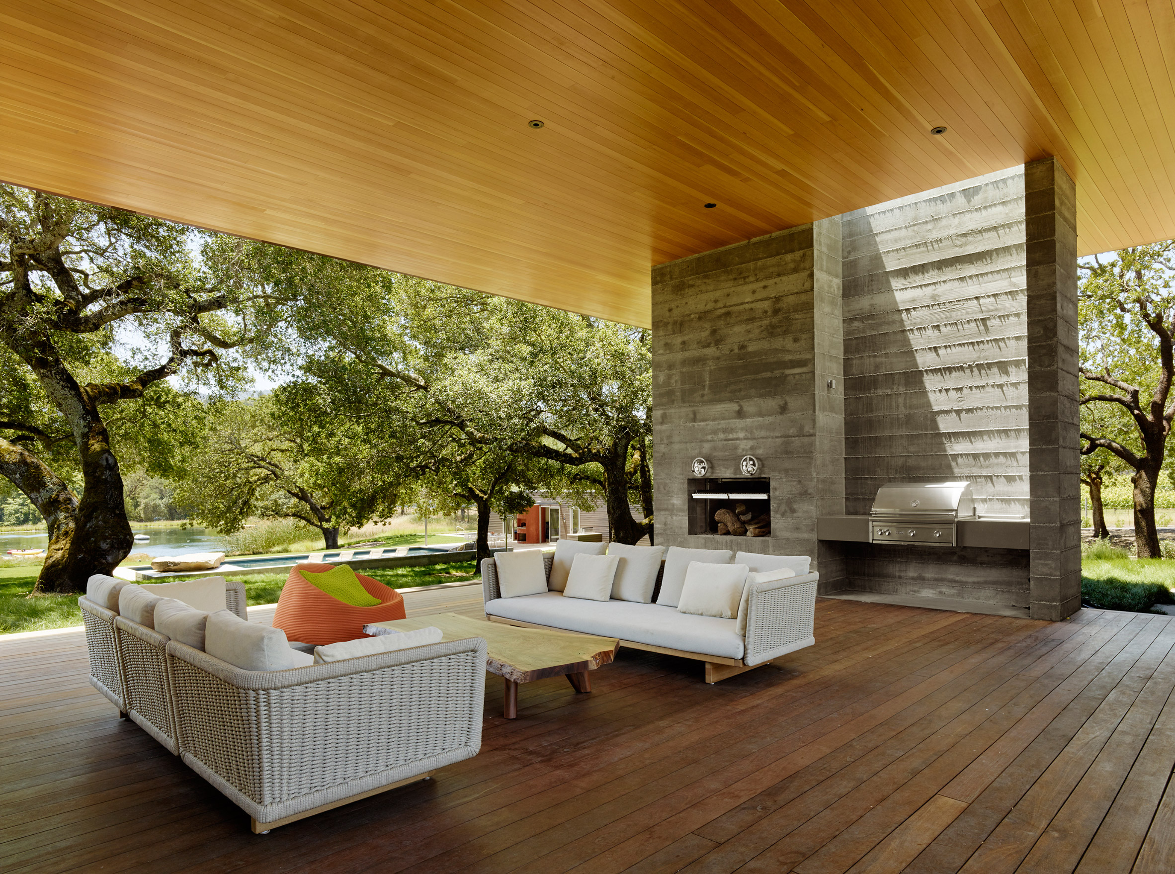 California country home by Turnbull Griffin Haesloop features an outdoor living room