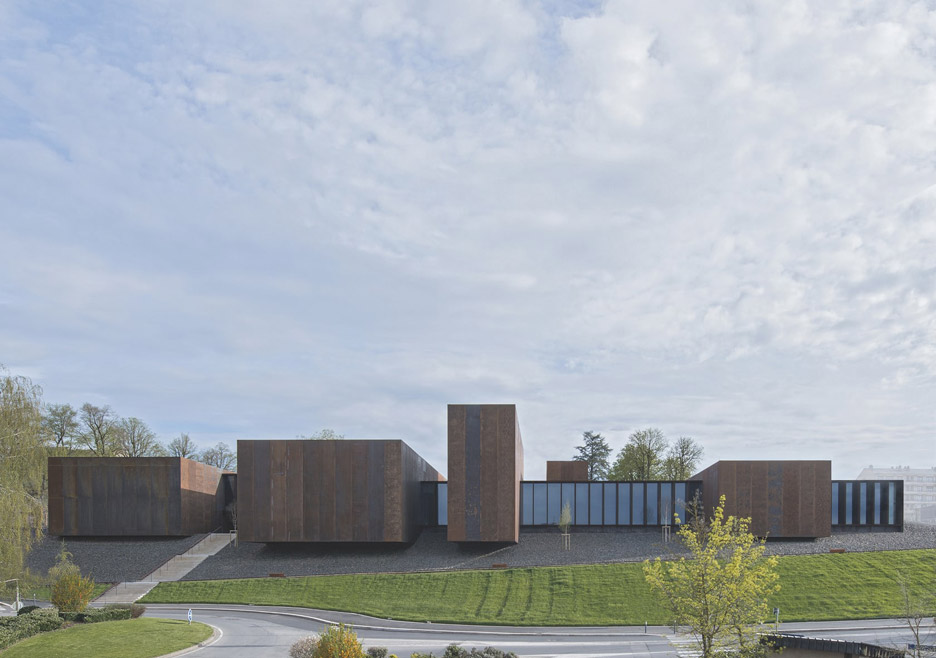 RCR Arquitectes forms Soulages Museum from linked weathering-steel boxes