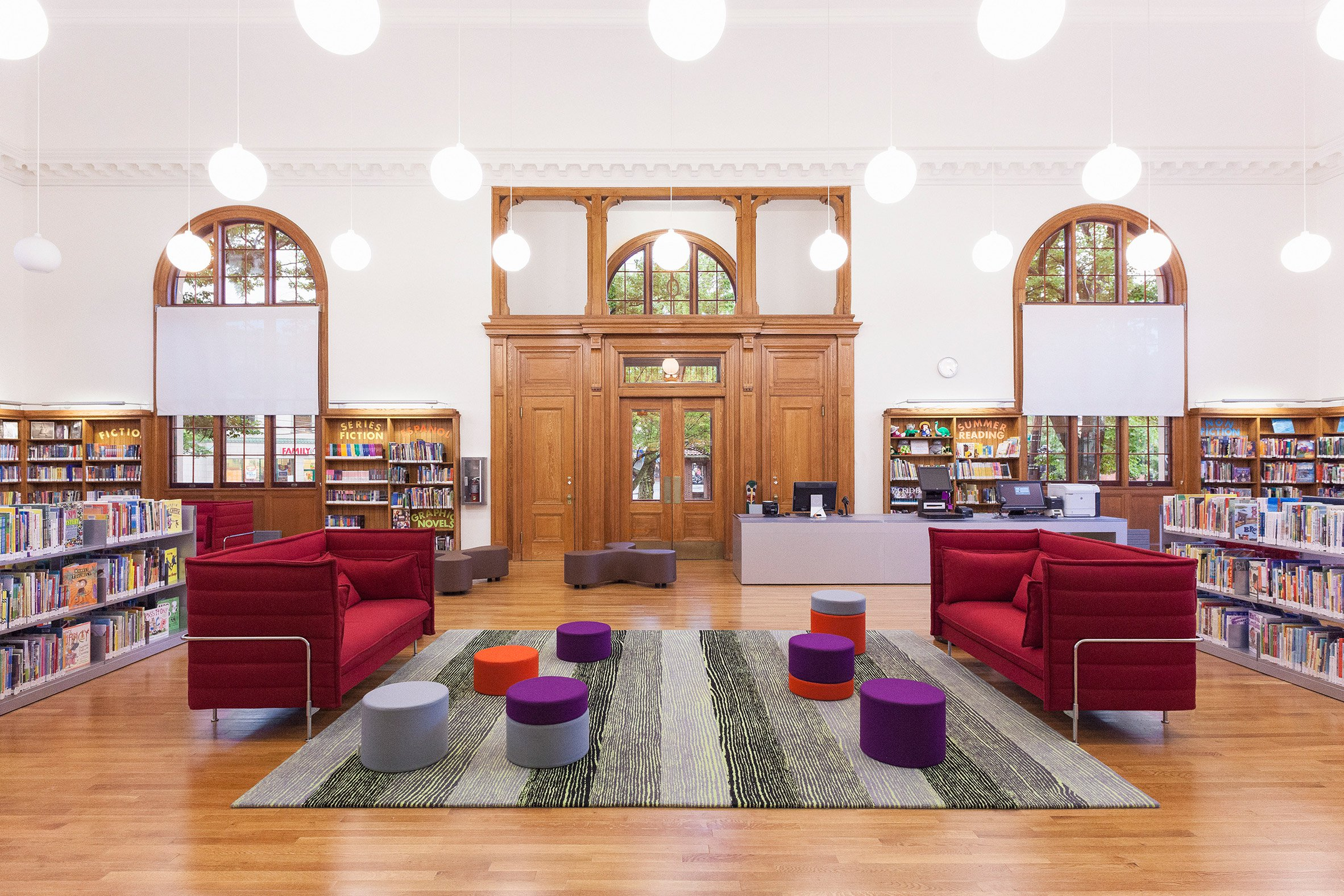 Andrew Berman Architects adds timber-framed extension to old Staten Island library