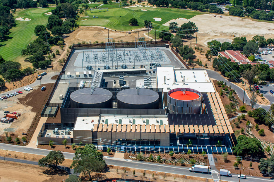 ZGF wraps Stanford University power plant in metal screens