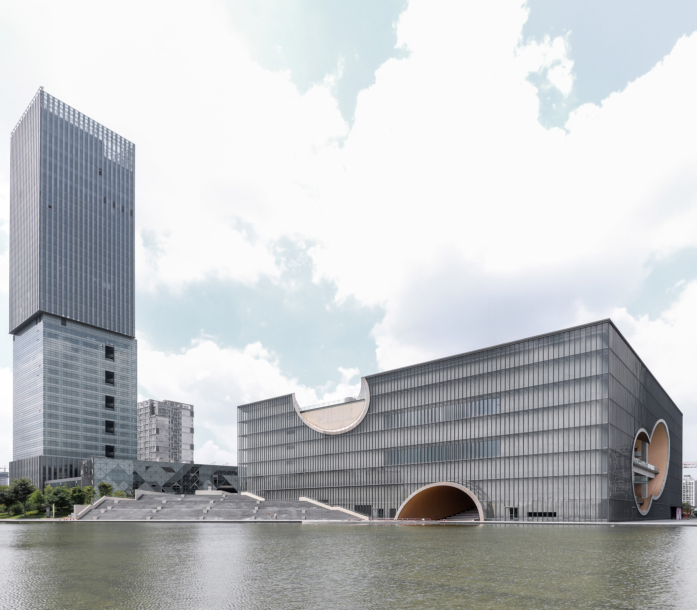 Tadao Ando's Shanghai Poly Grand Theatre captured in new photographs