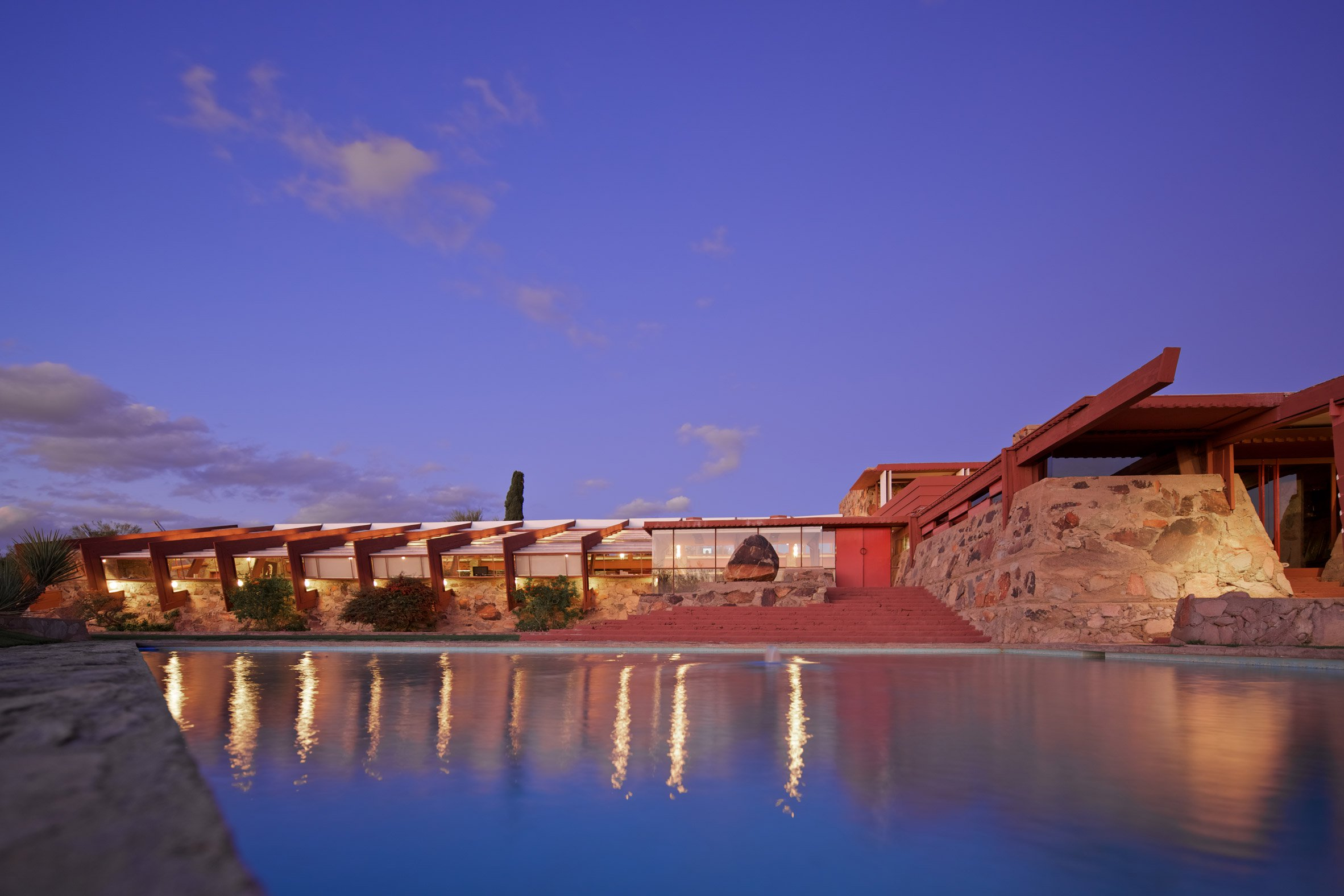 Frank Lloyd Wright designed Taliesin West as a desert retreat for himself and his students