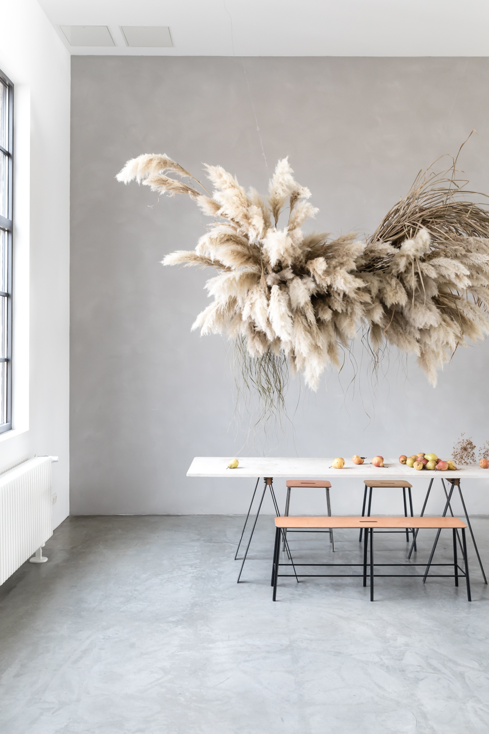 Dine under suspended billows of branches