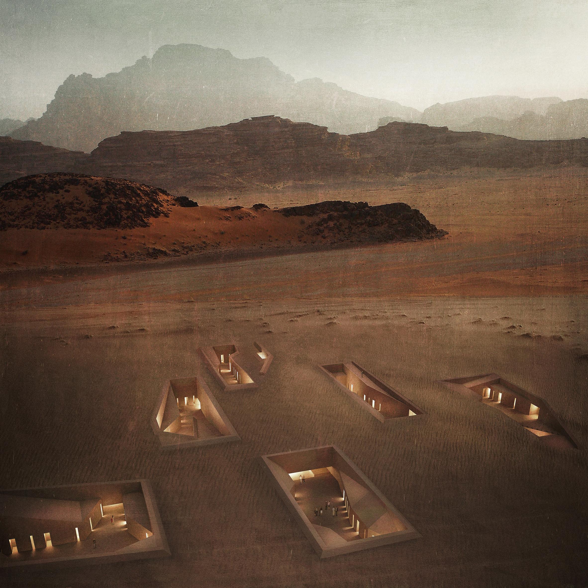 Rasem Kamal proposes warren of subterranean services for Jordan's Wadi Rum