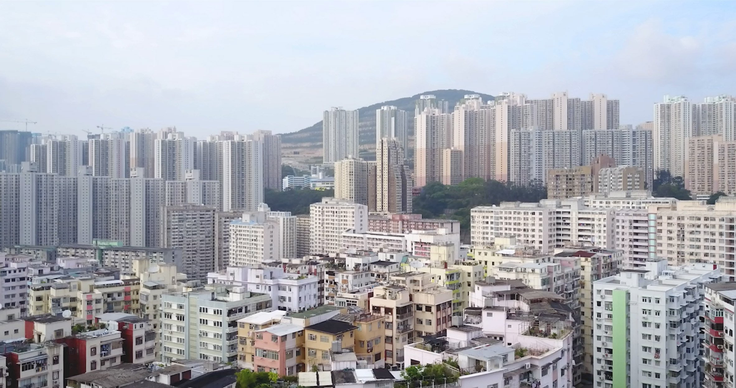 Hong Kong's densely packed high-rises captured from above in new drone movie