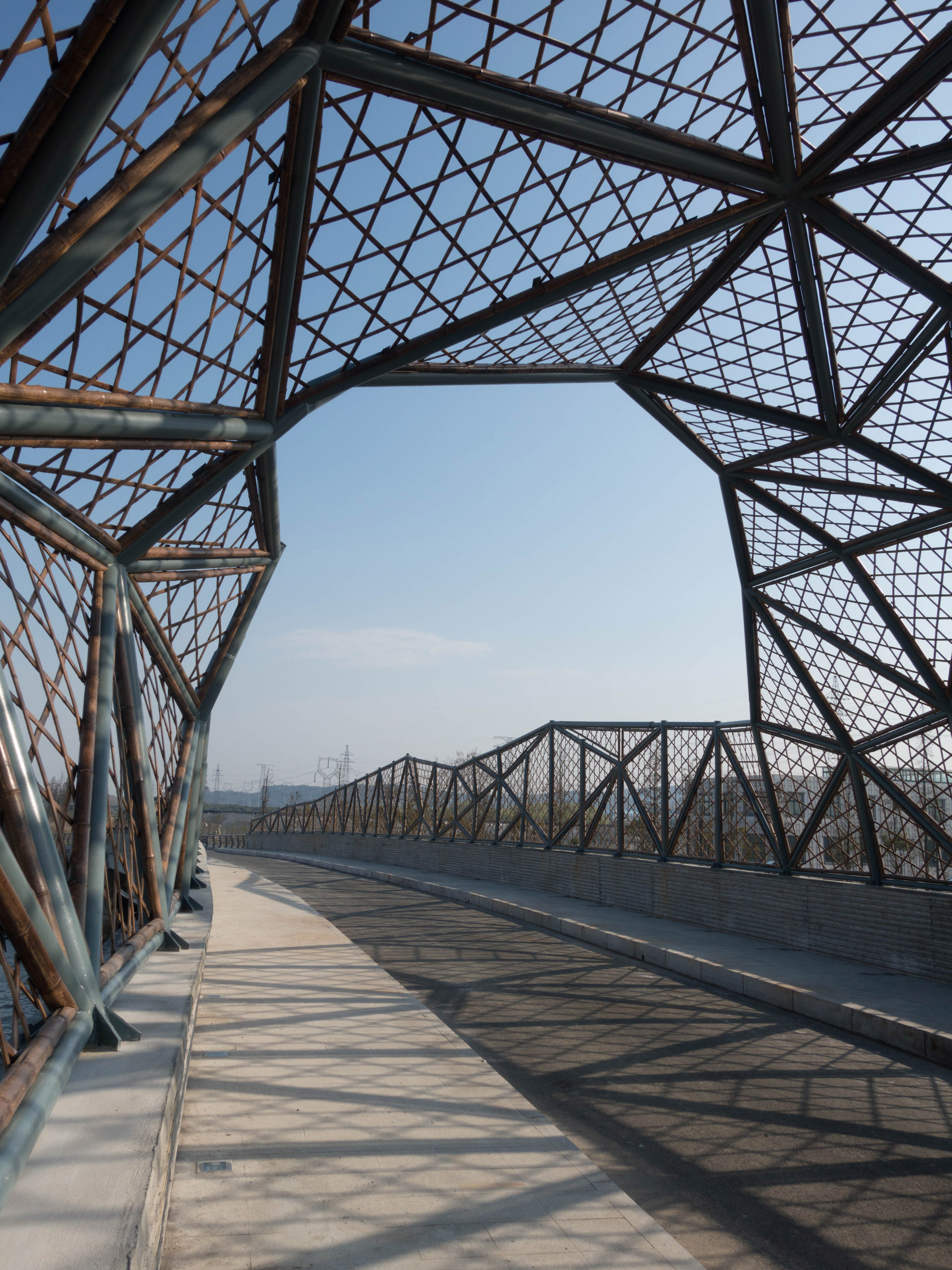 Latticed-bamboo bridge by Mimesis Architecture Studio references Jiangsu's craft traditions